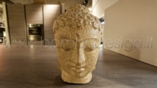 STATUA BUDDHA COFFEE CREAM H 40 CM
