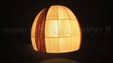 LAMPADA SOSPENSIONE IN MAIS APPLE PICCOLA DIAM.40