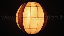 LAMPADA A SOSPENSIONE IN FOGLIA MAIS E BANANO - SFERA DIAM.50 CM