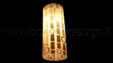 LAMPADA SOSPENSIONE TUBE SHELL HAREM WHITE DIAM.12 H 30