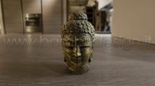 STATUA BUDDHA BLACK GOLD H 10 CM.