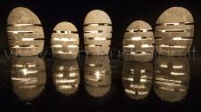 LAMPADA IN PIETRA NATURALE DA TERRA - ABAT JOUR ALTEZZA MINIMA 50 CM.