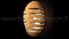 LAMPADA IN PIETRA NATURALE PARALUME - APPLIQUE H 30/40 X 15 CM
