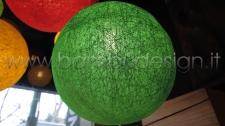 LAMPADA SOSPENSIONE BALOON GREEN - VERDE - FIBRA VEGETALE DIAM 25 CM