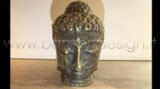 STATUA BUDDHA BLACK GOLD H 30 CM