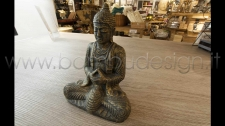 STATUA BUDDHA BLACK GOLD H 28