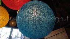 LAMPADA SOSPENSIONE BALOON BLUE - BLU - FIBRA VEGETALE DIAM 30 CM.