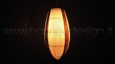 LAMPADA A SOSPENSIONE IN FOGLIA MAIS E BANANO - T MOON DIAM. 20 H45 CM.