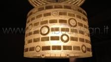 LAMPADA SOSPENSIONE CYLINDER SHELL HAREM WHITE DIAM 50 H25 CM.