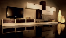 MODULI COMPONIBILI IN CRASH BAMBU' - INFINITY BLACK - WHITE - MIELE