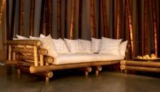 DIVANO IN BAMBU' GIGANTE NATURALE - KING BAMBU' 280X145 H70 CM.