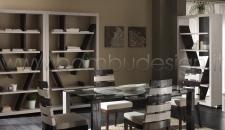 LIBRERIA CRASH BAMBU' WHITE - DONGALA 120X35 H210
