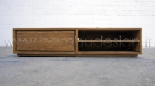 PORTA TV LEGNO MASSELLO TEAK MASSELLO NATURALE 180X40 H40 CM,