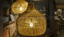 LAMPADA A SOSPENSIONE MIDOLLINO NATURALE - NASSA DIAM. 60 H 60 CM.