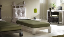 LETTO IN CRASH BAMBU WHITE SINGOLO - MINIMAL 95X210 H25 CM.