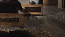COMODINO IN CRASH BAMBU' 1 CASSETTO - DIAMOND - MIELE 60X40 H34 CM.