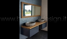 BAGNO PERSONALIZZABILE LINEE INFINITY TEAK + INK MODULARE COMPONIBILE