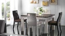 TAVOLO HOTEL RADDOPPIABILE IN CRASH BAMBU' WHITE E PIANO IN FRASSINO 90X120/240 H80
