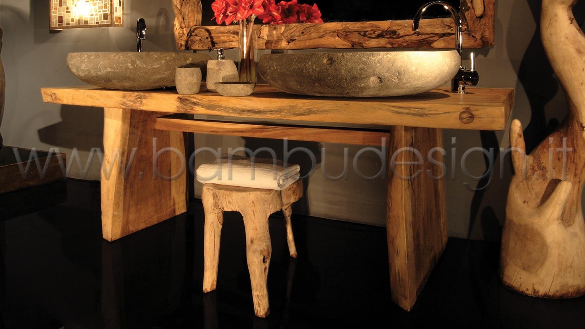 Tavoli Lunghi 4 Metri.Tavolo In Legno Suar Massello Naturale 250x80 H 80 Sp 10 Cm 2