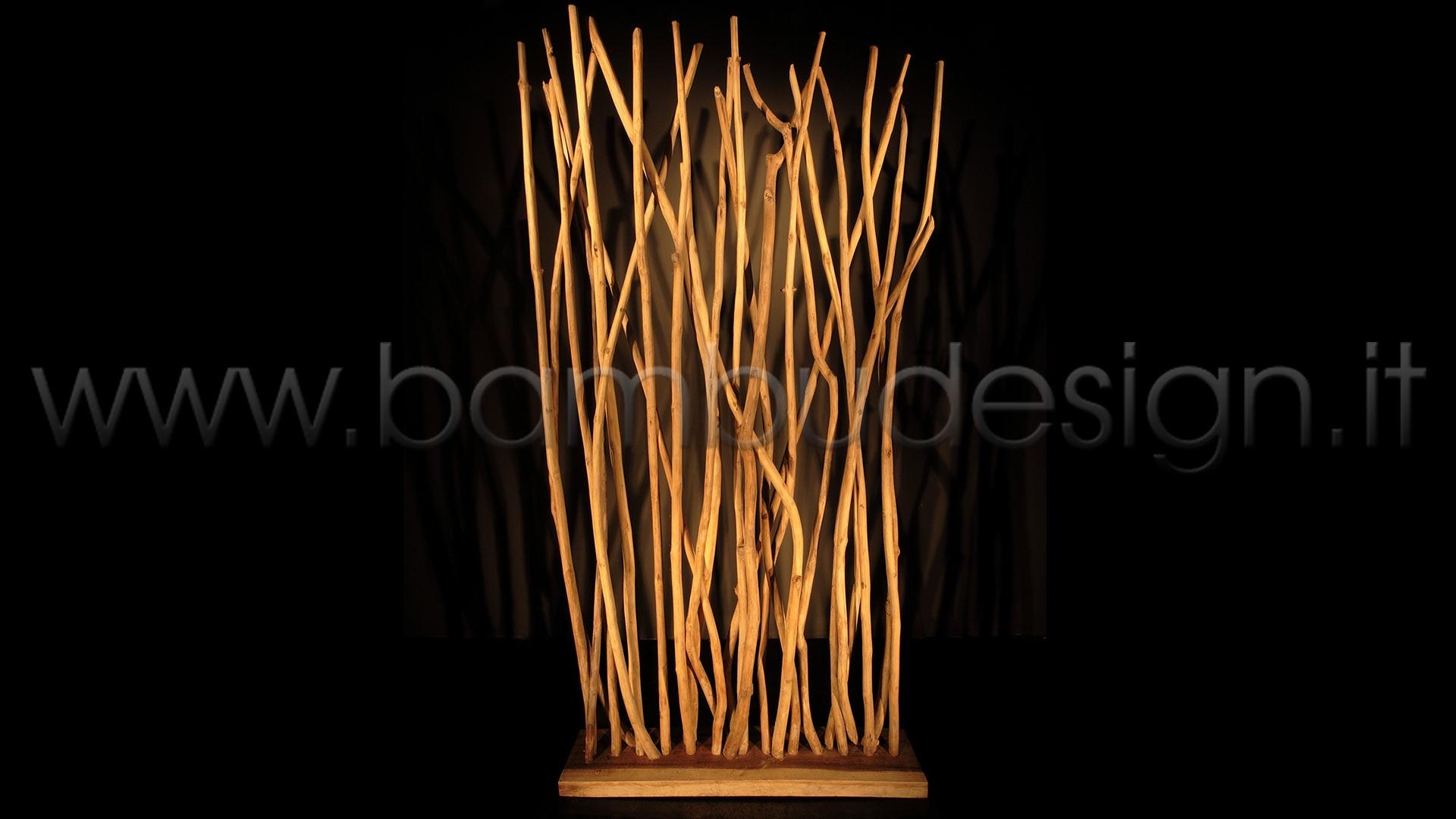 Divisorio rami teak 100 x 20 h 200 bamb design milano - Rami decorativi legno ...