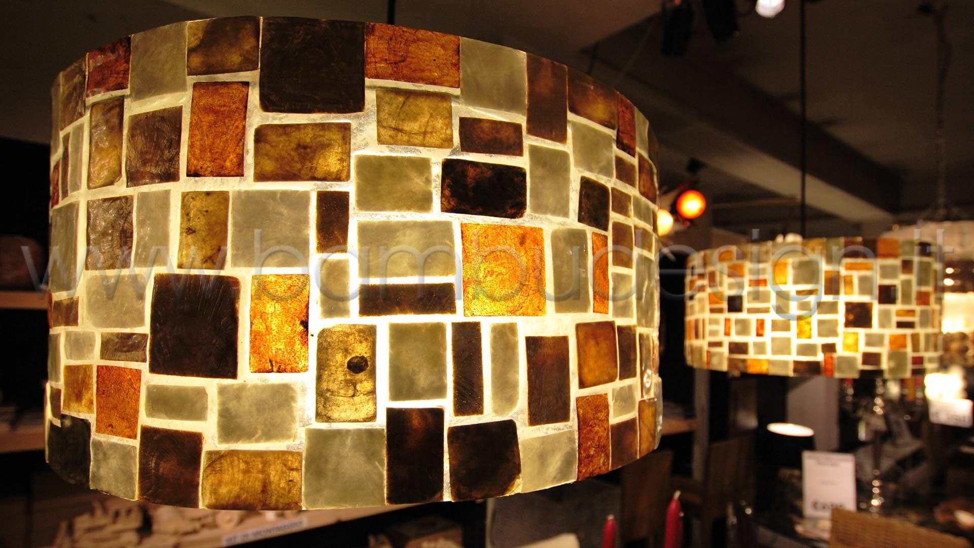Lampada sospensione cylinder shell klimt interno trasparente diam