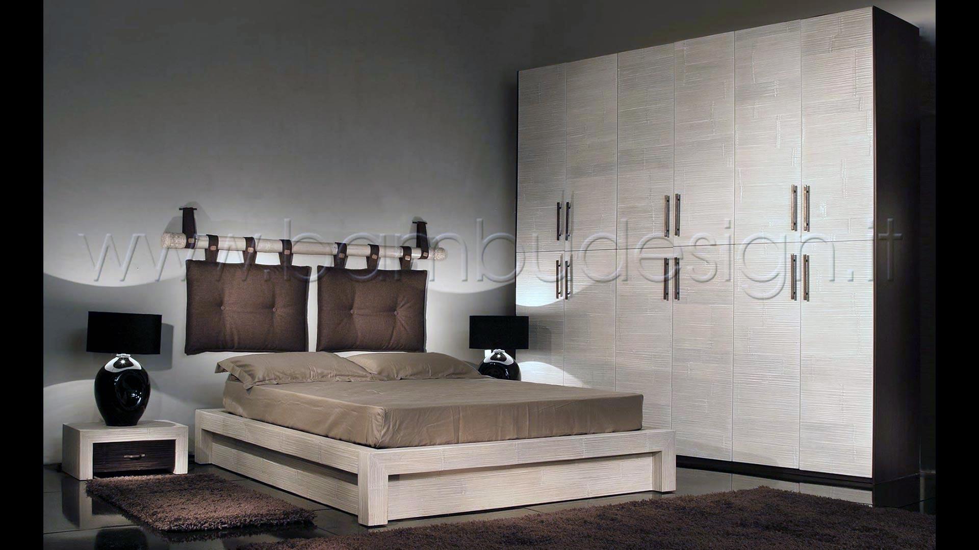 Letto in crash bambu 39 white con contenitore minimal 180x220 h30 bamb design milano - Letto all americana ...