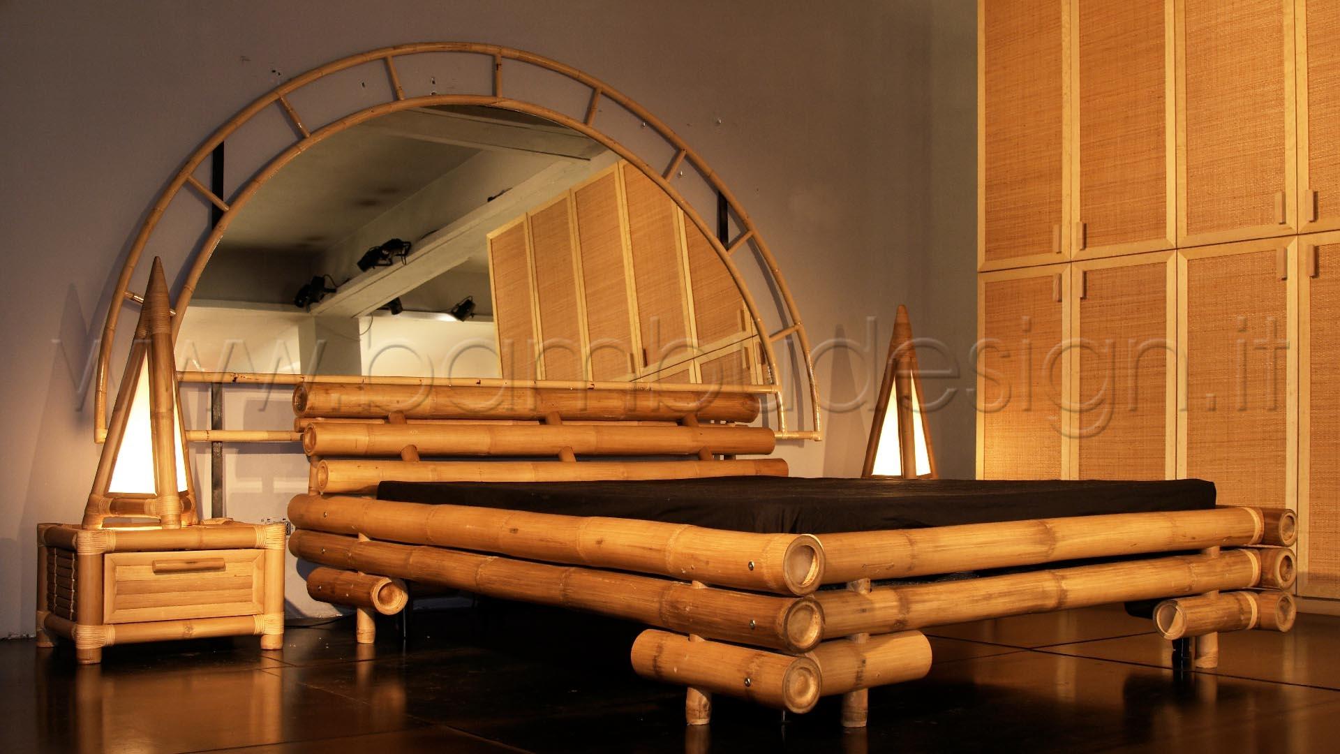 Letto in bambu 39 giant naturale con rete ortopedica bali - Letto in bambu ...