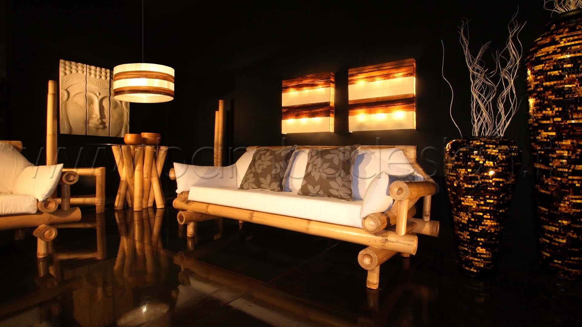 Lampada sospensione in mais cylinder large diam h bambù